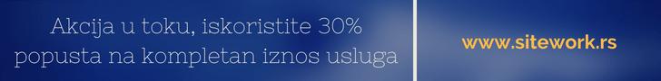 POPUST NA UKUPAN IZNOS OD 30%