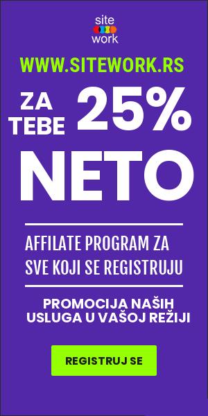 Affiliate registracija